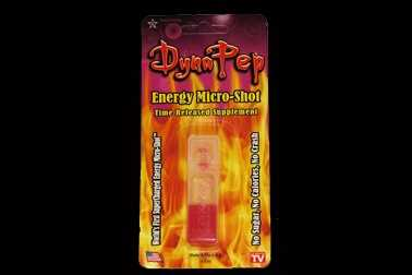 DynaPep Energy Micro-Shot is also supposed to be mixed with your beverage of choice.  The tiny package packs 100 milligrams per shot.  That's 714.3 milligrams per ounce.