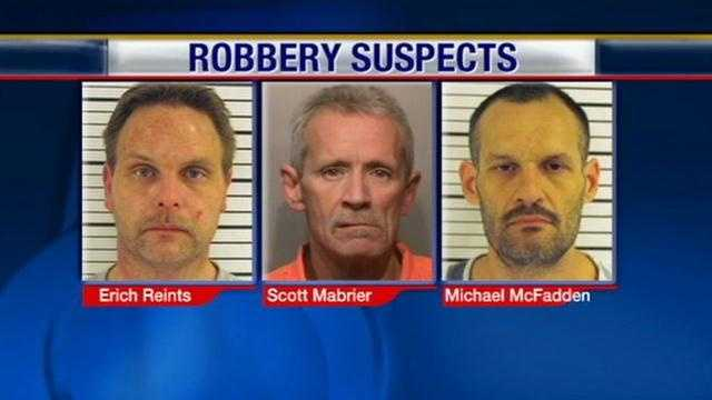 Police have arrested three suspects on suspicion of tying-up and robbing a cancer-stricken Boone County man.