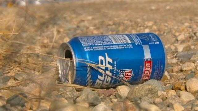 Beer can generic outside