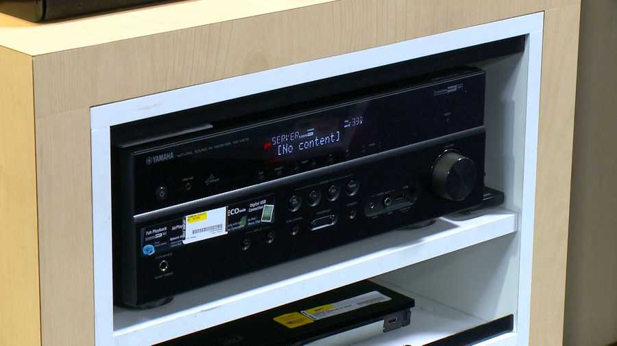 Control your home audio from your smart phone with the Yamaha Receiver. The receiver plays songs directly from your phone without a docking device. The device is available at Best Buy and most audio/video retailers for $499.