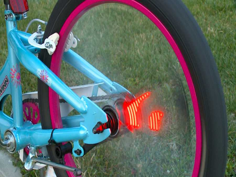 Add the Fuze Wheel Writer to your bicycle wheel spokes to display lightning, flames, or even your current speed. Get one for $23 at Best Buy.com (delivered to store) or Amazon.com.