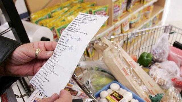 Shopping list grocery store