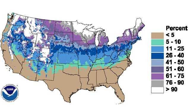 White christmas map