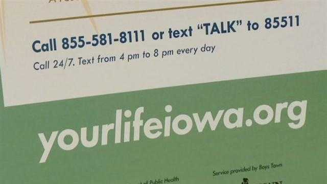 Iowa students attend a new anti-bullying conference held Tuesday at the Iowa Events Center in Des Moines.  A new phone and texting hotline was unveiled.