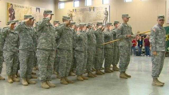 Forty men from the Johnston-based Iowa Army National Guard unit were deployed to Honduras on Sunday for the next year.