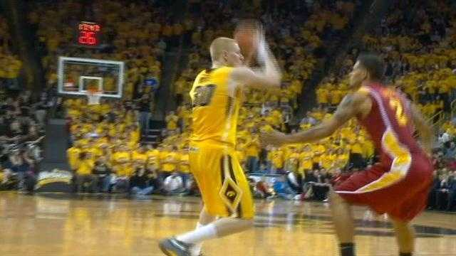 Aaron White led the Hawkeyes to a nine point win over their in-state rivals for the first time in four years.