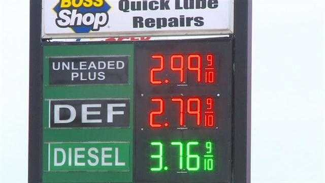 Gas prices fall below $3