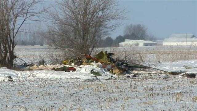 Iowans try to cope with losing three people on board an air ambulance when it crashed Wednesday night.