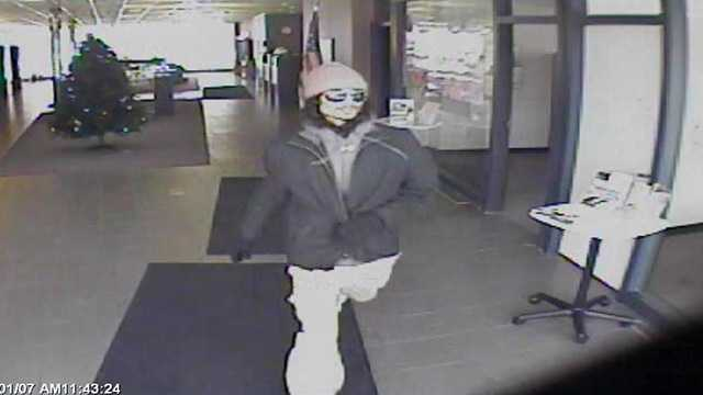 Surveillance photo of bank robbery