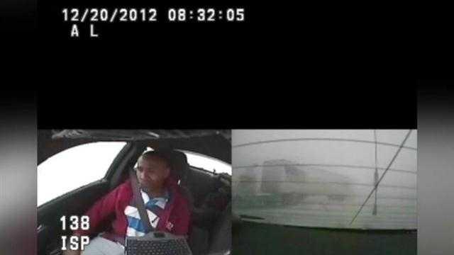 Caught camera semi trooper crash