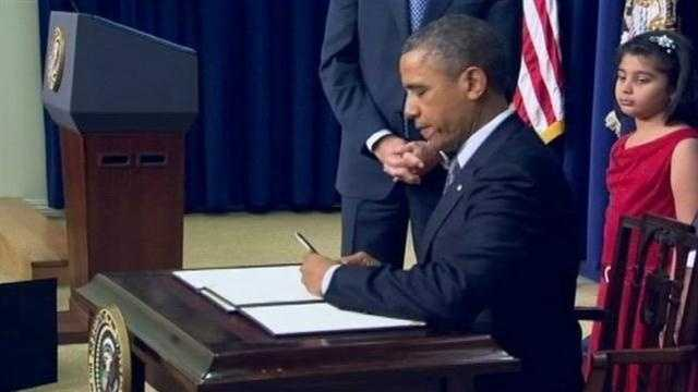 President Obama introduces signed 23 executive orders yesterday.