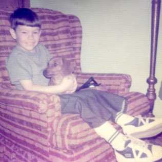 """Christopher (age 4) and """"Taffy"""" - 1976"""
