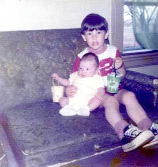 Christopher (3 yrs) and Sarah (3 weeks, 6 days) - May 1975