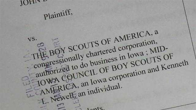 A lawsuit is filed against an Iowa man and the Boy Scouts after a man comes forward claiming sexual abuse decades ago when he was a scout.