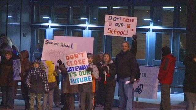 Parents and students packed a school board meeting.