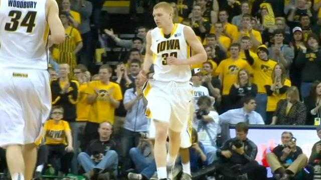 A career-high 27 from Aaron White helped Iowa put away the Big Ten's worst team.