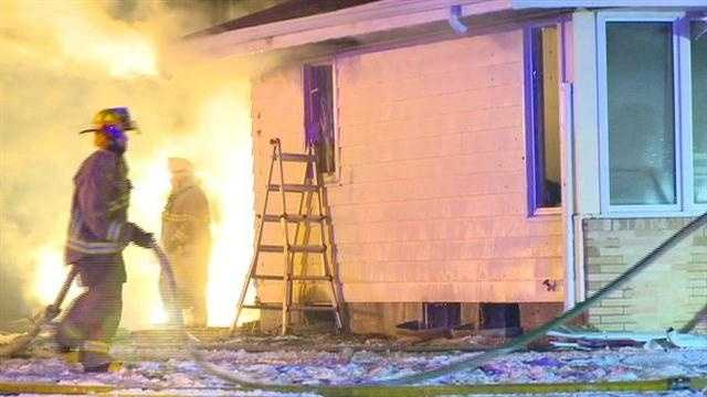 No one was injured in an overnight fire in Clive.