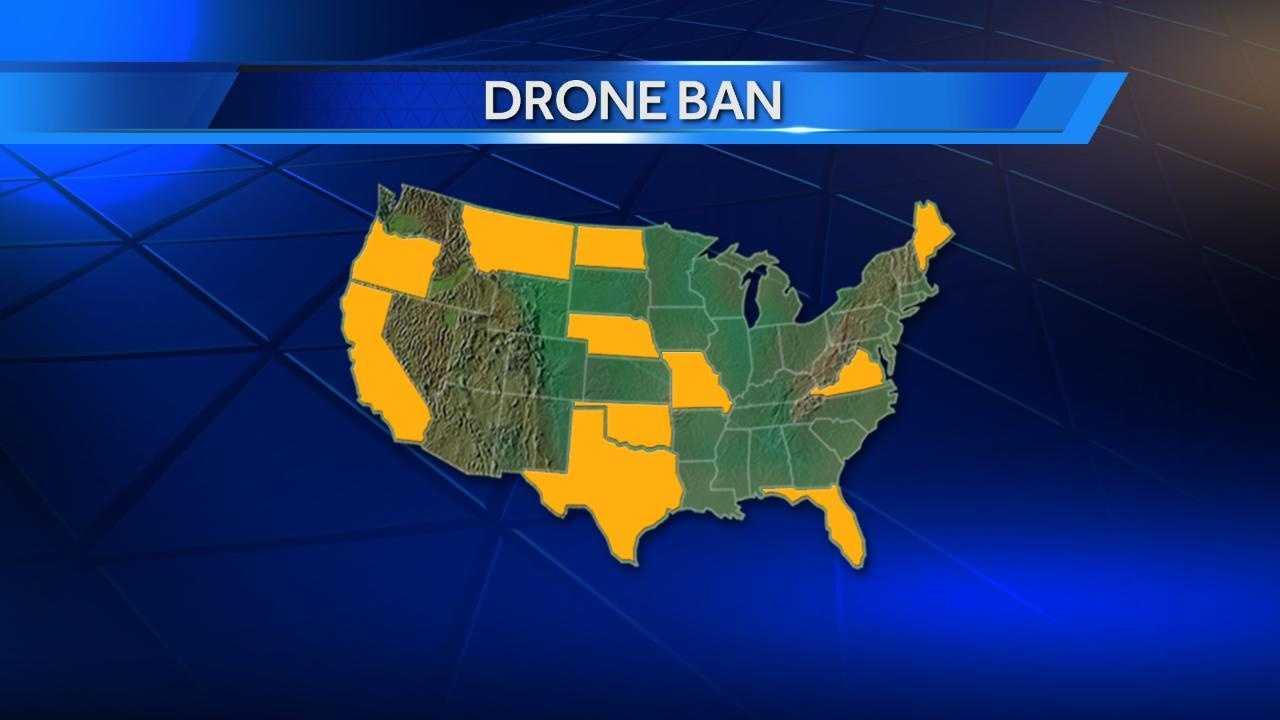 Drone ban map