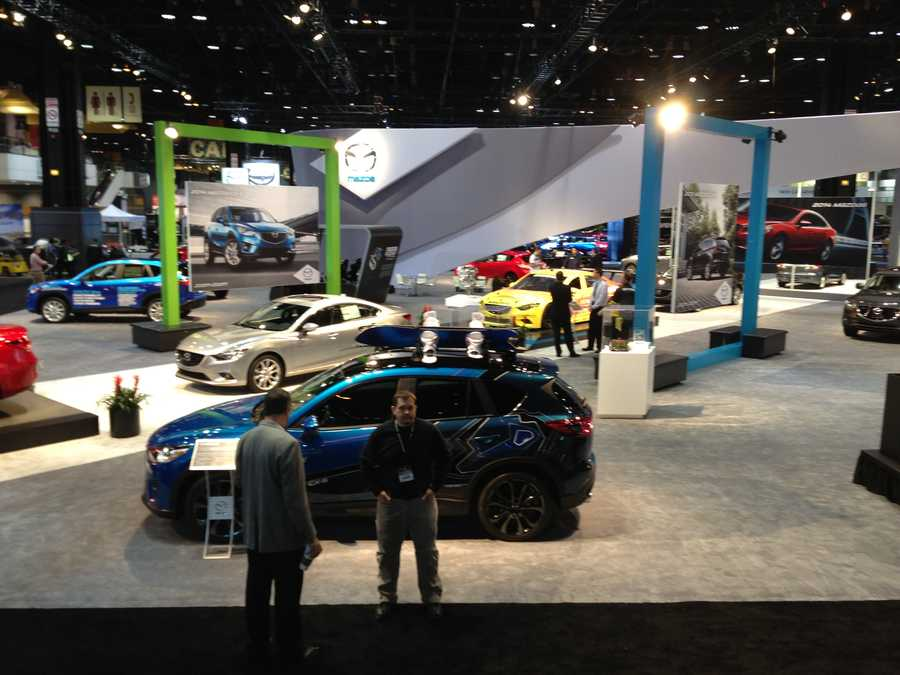 Mazda's presence at the Chicago Auto Show.