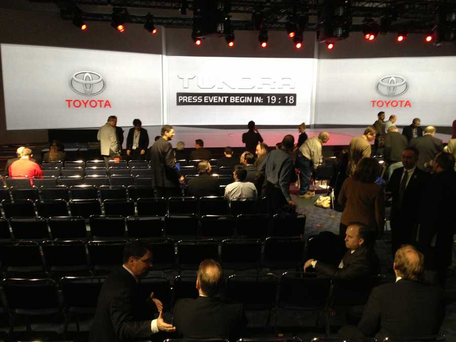 Toyota set to present new vehicles to the media.