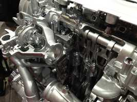 An inside look at the Chevy Cruze engine.