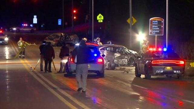 Law enforcement officials said a high-speed chase ended in a crash with a police cruiser.