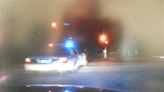 Caught on video: Chase crashes into police car
