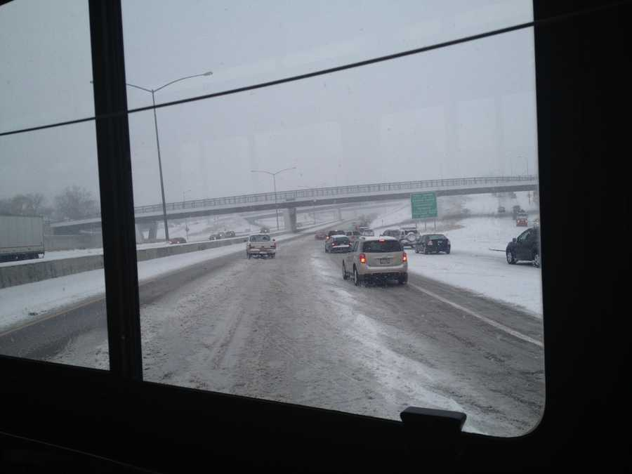 A view from inside the bus from a passenger uploaded to KCCI.com