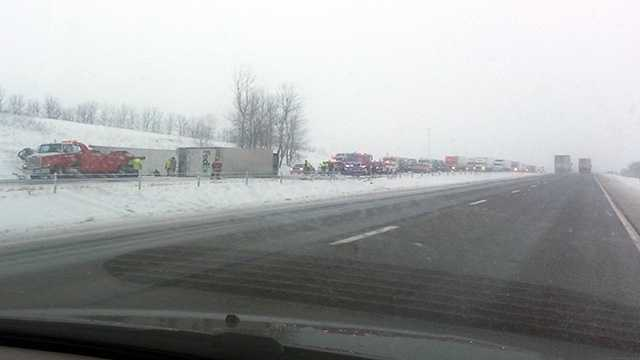 I80 crash semi kellogg
