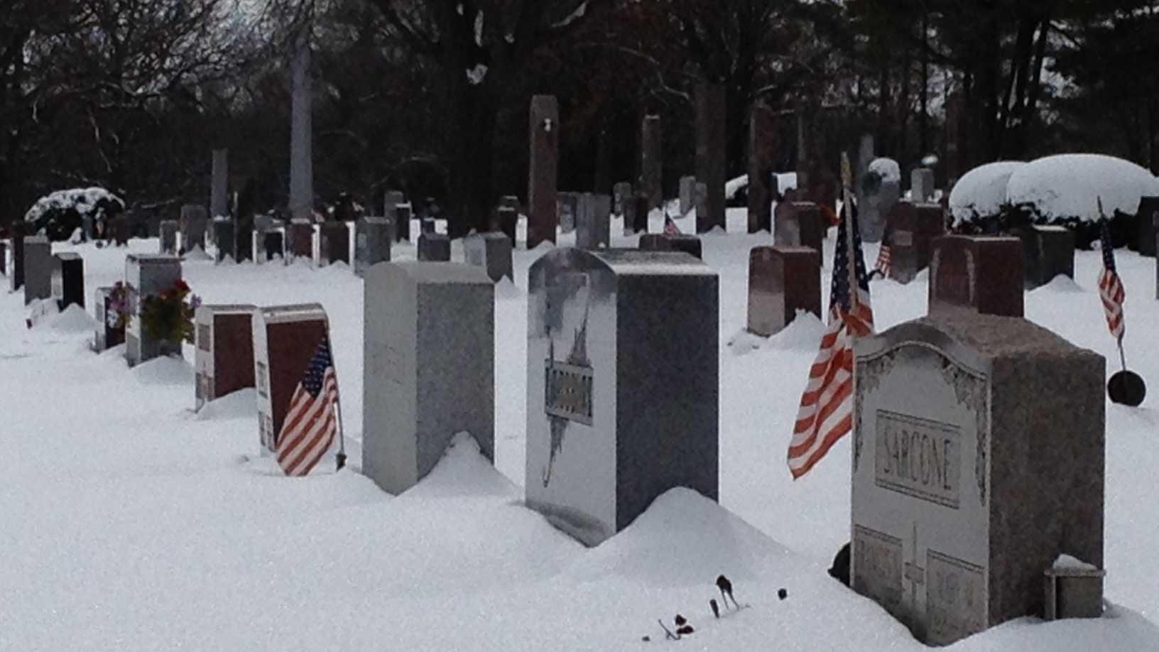 Snowy cemetery generic