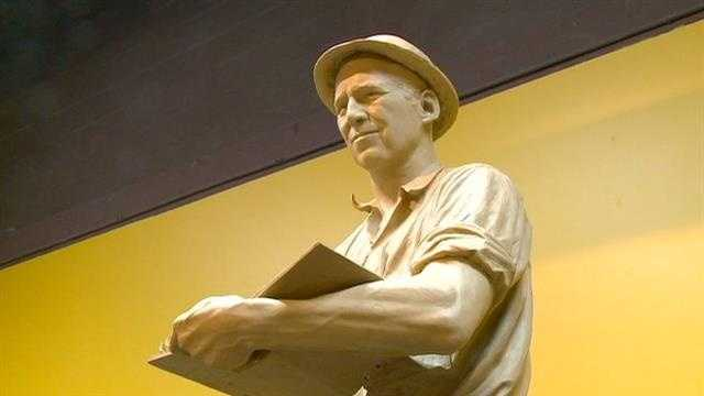 Work is underway to create a statue of Norman Borlaug was the Iowa native and crop researcher who's work helped feed millions.   Photojournalist Mike Sims caught up with the sculpturer, who is putting the finishing touches on the Borlaug statue.
