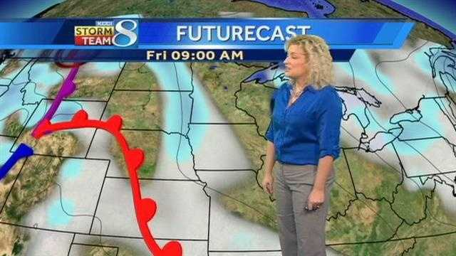 Weather forecast for central Iowa.