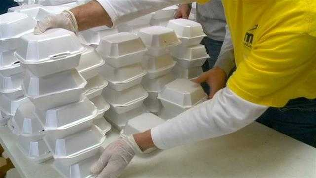 Hope Ministries made a little more than 2,000 meals Sunday, setting a shelter record for Easter meals served.