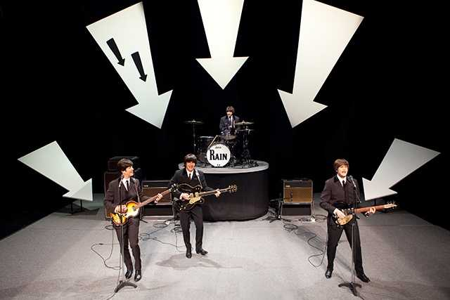 """RAIN – A TRIBUTE TO THE BEATLES (February 4 and 5, 2014): Direct from Broadway! As """"the next best thing to seeing The Beatles!"""" -- Associated Press, RAIN performs the full range of The Beatles' discography live onstage. From the early hits to later classics I Want To Hold Your Hand, Hard Day's Night, Sgt. Pepper's Lonely Hearts Club Band, Let It Be, Come Together, Hey Jude an and more, this adoring tribute will take you back in time! The week RAIN -- A TRIBUTE TO THE BEATLES comes to Des Moines is the 50th anniversary of The Beatles bringing their stardom to the U.S."""