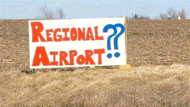 There's a battle brewing over a proposed regional airport in Mahaska County.