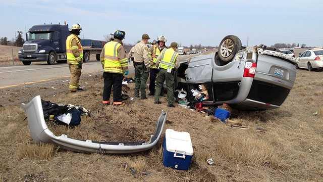 I35 rollover crash