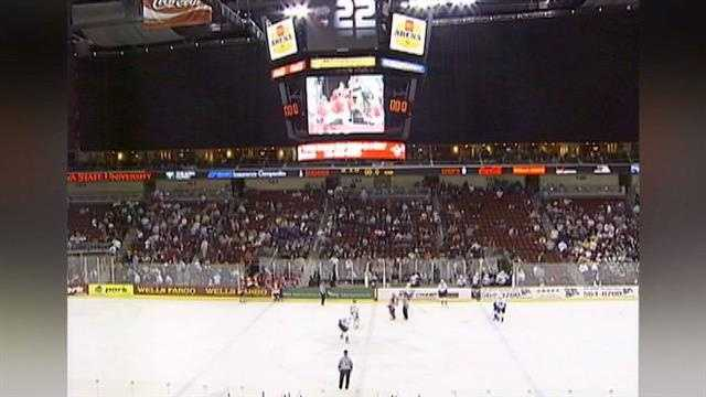 Wells Fargo Arena is talking about the possibility of bringing a new hockey team to the Iowa Events Center.