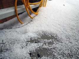 Manson, Iowa, hail on April 9