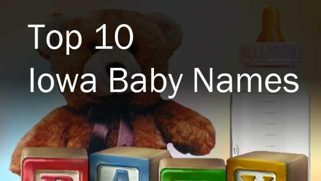 Top 10 Iowa baby names