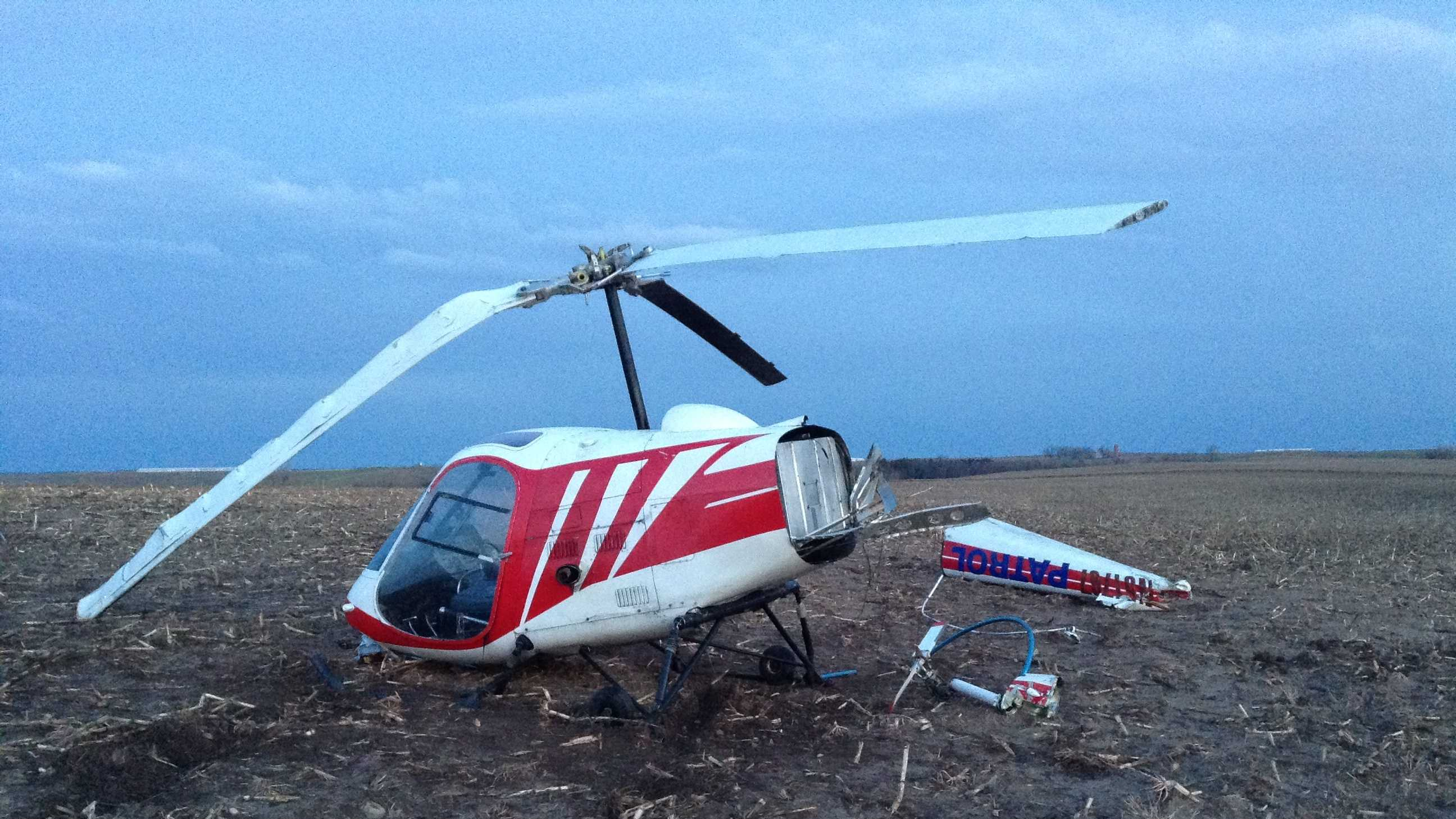 A helicopter used by the Iowa Department of Natural Resources went down near Glidden Tuesday afternoon.