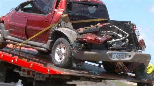stolen truck crash
