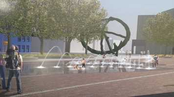 A new red carpet leading to the Civic Center and interactive fountain are planned.