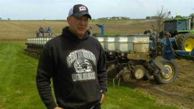 Iowa farmers have only planted about 15 percent of the corn crop so far this year.