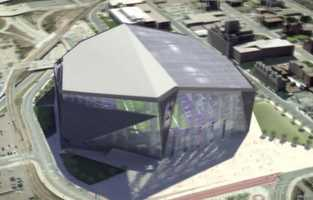 The steeply pitched, translucent roof will let natural light stream in, making the covered, glass-centric stadium seem more like it's outside.AP) - The Minnesota Vikings will have a fixed roof and moveable front windows on their new stadium.