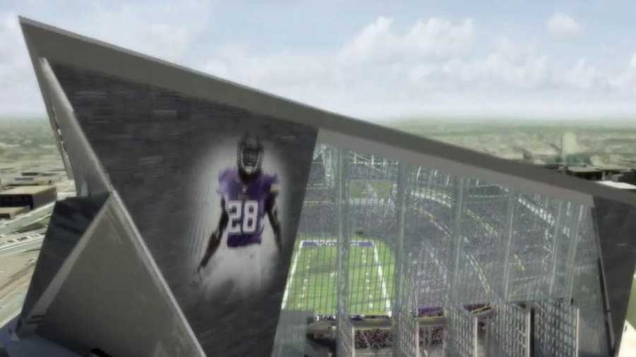 The Minnesota Vikings will have a fixed roof and moveable front windows on their new stadium.