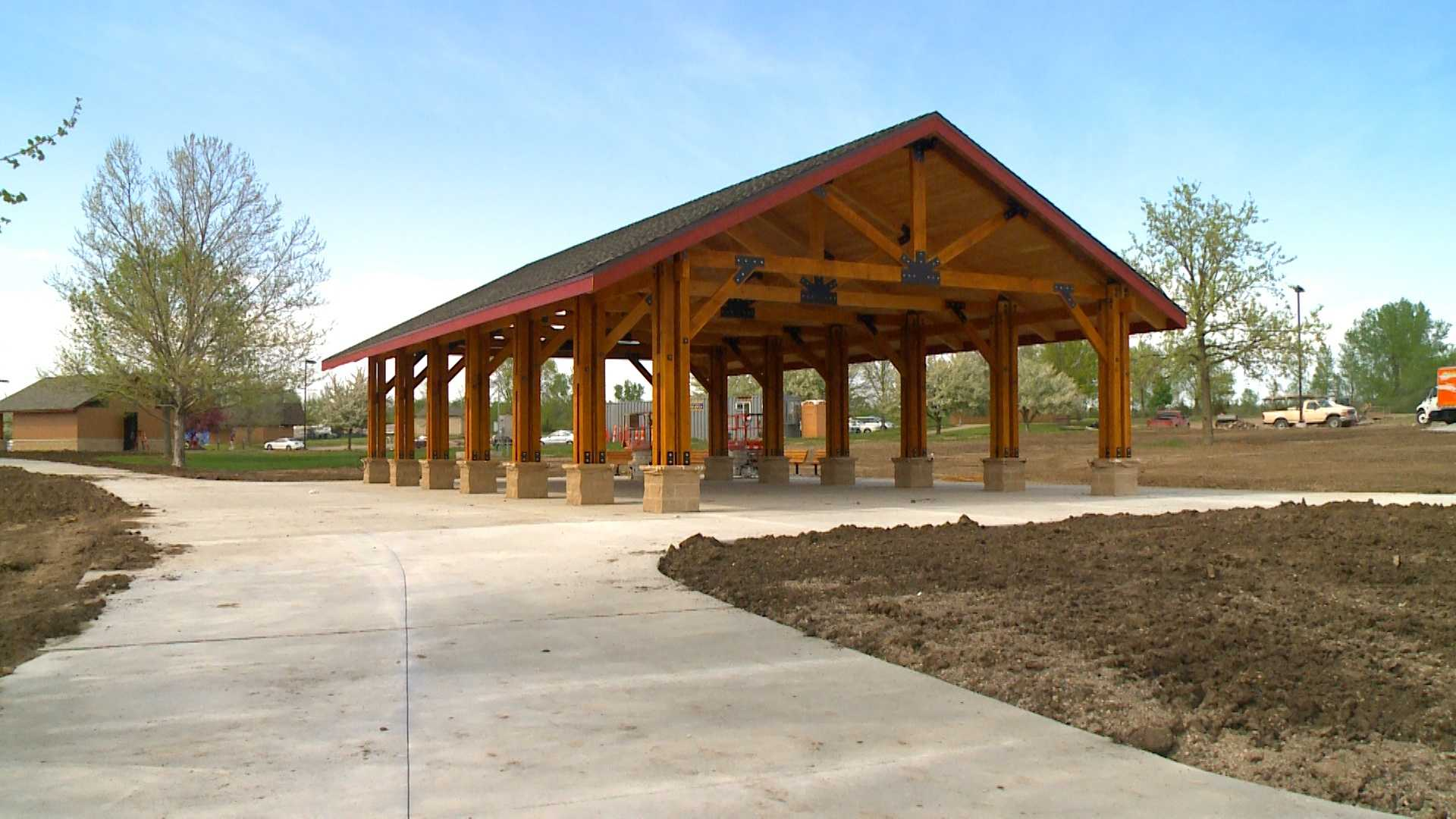 A collection of new timber-framed shelters are surprising visitors at Big Creek State Park.