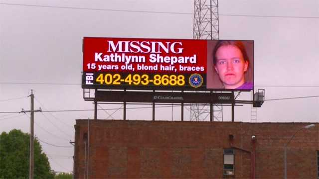Billboards about the Monday abduction of Kathlynn Shepard are appearing across Iowa Wednesday.