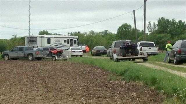 Investigators are focusing on a search area near Kale Road in Boone County where two backpacks were found Tuesday.