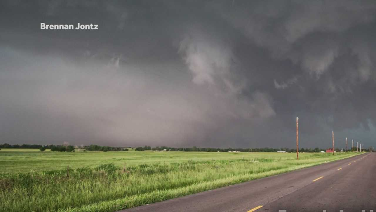 A storm chaser from central Iowa was in Oklahoma City when the deadly tornado was upgraded to an EF-5.
