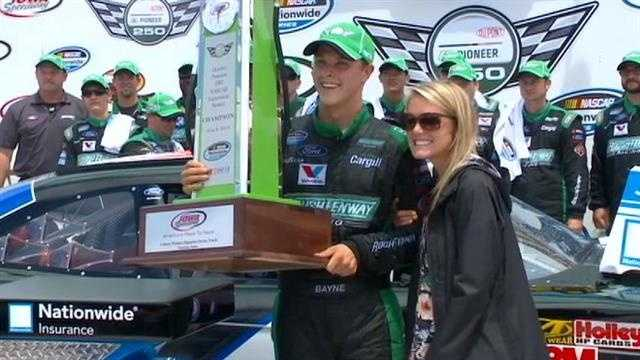 Newlywed wins Pioneer 250